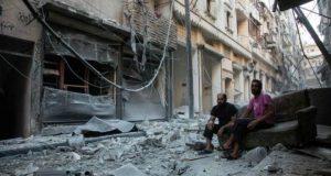 'جنگ بندی کے بعد حلب میں پہلی فضائی کارروائی'