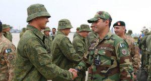 روس کا فوجی دستہ مشترکہ مشقوں کے لیے پاکستان میں