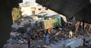 شام میں اقوام متحدہ کے امدادی قافلے پرحملے میں 32 رضا کار ہلاک