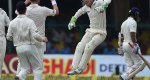 نیوزی لینڈ نے پہلے ٹیسٹ میں بھارت کی 318 رنز پر بساط لپیٹ دی