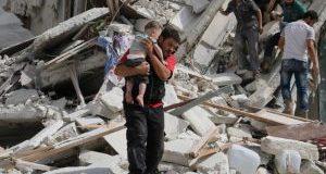 حلب میں فرانسیسی طبی مرکز پر بمباری،13ہلاک