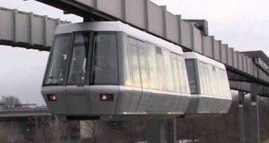 چین میں رولر کوسٹر کی طرح لٹکتی ہوئی اسکائی ٹرین کا کامیاب تجربہ
