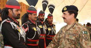 آرمی چیف جنرل راحیل شریف کا رینجرز ہیڈ کوارٹرپنجاب کا دورہ