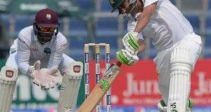 شارجہ ٹیسٹ؛ پاکستان نے 8 کھلاڑیوں کے نقصان پر 255 رنز بنالیے