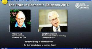 معاہدوں سے متعلق نظریے پر معاشیات کا نوبل انعام