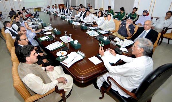 پشاور،وزیراعلیٰ خیبرپختونخواپرویزخٹک بورڈآف ڈائریکٹرزمیٹنگ کی صدارت کررہے ہیں