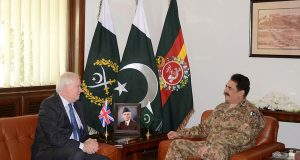 آرمی چیف جنرل راحیل شریف سے برطانوی مشیر قومی سلامتی کی ملاقات