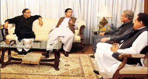 شاہ محمود قریشی کی اسلام آباد میں پرویز الٰہی کے ساتھ بیٹھک