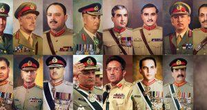 وزیر اعظم محمد نواز شریف نے پاک فوج  کے پانچ سربراہوں کی تقرری کا  اعزاز حاصل کرلیا