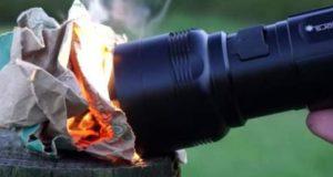 روشنی کے ساتھ آگ لگانے والی ٹارچ تیار