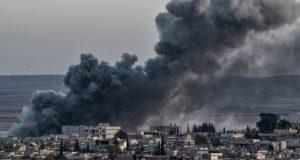 شام ، رقہ پر اتحادی افواج کے فضائی حملے، 20 شہری ہلا ک ،متعدد زخمی