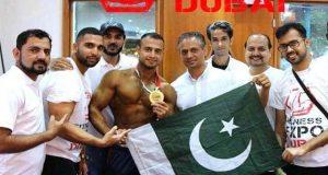 دبئی فٹنس ایکسپو میں پاکستانی باڈی بلڈرنے گولڈ میڈل جیت لیا