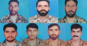 بھارتی حملہ فوجی7فوجی شہید جوابی کارروائی میں متعدد ہلاک