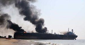 گڈانی شپ بریکنگ یارڈ میںناکارہ بحری جہاز میں آگ بھڑک اٹھی ،12 محنت کش جاں بحق