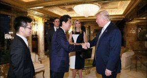 نیویارک: ڈونلڈ ٹرمپ سے جاپانی وزیراعظم کی ملاقات