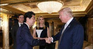 جاپانی وزیراعظم سے ملاقات کے دوران بیٹی کی موجود ہوتے ٹرمپ پر تنقید