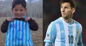میسی سے ملاقات کے خواہشمند 6 سالہ افغان بچے کی خواہش بالاخر پوری ہوگئی
