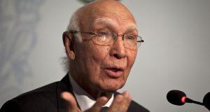 پاکستان افغانستان کیساتھ دوستانہ تعلقات کا خواہاں ہے، سرتاج عزیز