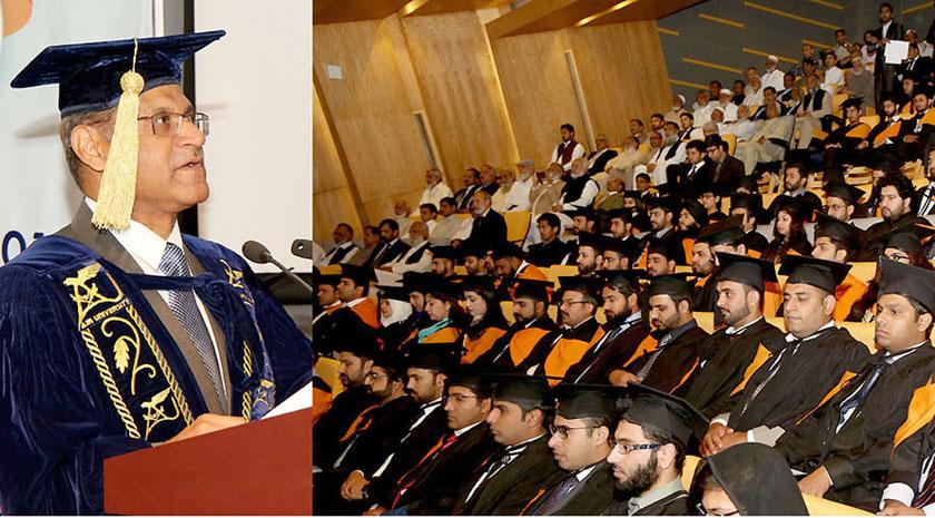 اسلام آباد، پاک فضائیہ کے سربراہ چیف مارشل سہیل امان ایئر یورنیورسٹی کے چھٹے کانووکیشن کی تقریب سے خطاب کر رہے ہیں