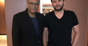 شاہد آفریدی اور نجم سیٹھی کی ملاقات، الوداعی میچ پر گفتگو