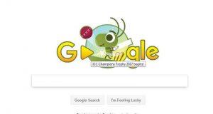 چیمپئنز ٹرافی کے آغاز پر گوگل کا نیا ڈوڈل