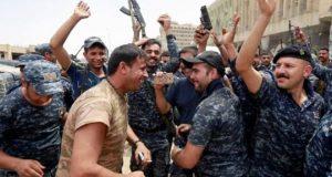 موصل میں داعش کو شکست، عراقی فوجیوں کا جشن