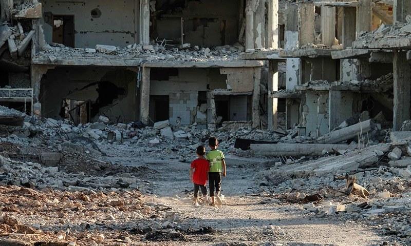 شام کے علاقے شیخون میں رواں سال4اپریل کو ہونے والے حملے میں 87افراد ہلاک ہوئے تھے۔ فوٹو اے ایف پی