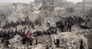 شام میں روسی طیاروں کی بمباری سے 50 افراد ہلاک