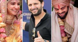 شادی کی مبارکباد دینے پر ویرات انوشکا کا شاہد آفریدی کو دلچسپ جواب