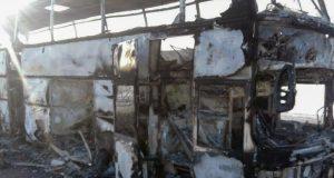 قازقستان: بس میں آتشزدگی سے 52 افراد ہلاک