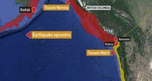 امریکا میں 7.9 شدت کا زلزلہ، سونامی وارننگ جاری کردی گئی