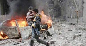 شامی افواج کی وحشیانہ بمباری، 200 سے زائد افراد ہلاک