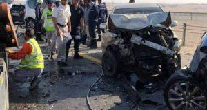 ابوظہبی میں درجنوں گاڑیاں آپس میں ٹکرا گئیں، متعدد افراد زخمی
