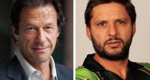 شاہد آفریدی کی عمران خان کو شادی پر مبارکباد