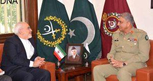 جنرل قمر جاوید باجوہ سے جواد ظریف اور میجر جنرل رحیم بردی کی ملاقاتیں