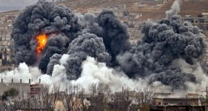 ترک فضائیہ کی شام کے علاقے عفرین پر بمباری، 36 شامی اہلکار ہلاک