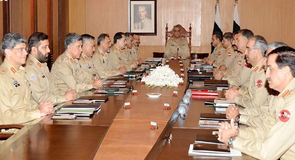 راولپنڈی: چیف آف آرمی سٹاف جنرل قمر جاوید باجوہ 210ویں کورکمانڈرز کانفرنس کی صدارت کررہے ہیں