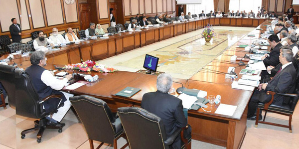 اسلام آباد:۔ وزیر اعظم شاہد خاقان عباسی وفاقی کابینہ اجلاس کی صدارت کررہے ہیں