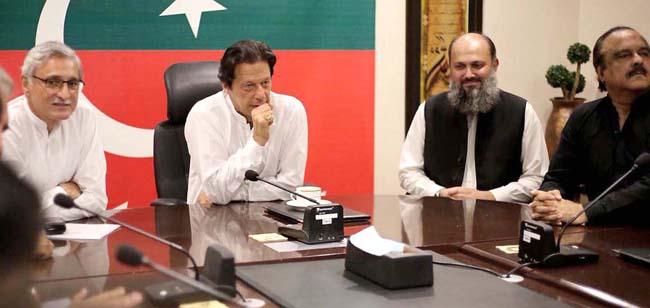 اسلام آباد:۔ بلوچستان عوامی پارٹی کے صدر جام کمال کی قیادت میں وفد چیئرمین پی ٹی آئی عمران خان سے ملاقات کر رہا ہے