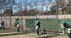 زمبابوے کے خلاف چوتھے میچ سے قبل پاکستانی کھلاڑیوں کی پریکٹس
