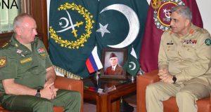 آرمی چیف ۔روسی نائب وزیر دفاع ملاقات خطے کی سلامتی کی صورتحال اور  باہمی دلچسپی کے امور پر تبادلہ خیالات
