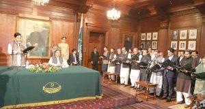 پنجاب کی 23رکنی کابینہ نے حلف اٹھا لیا، قائمقام گورنر نے حلف لیا
