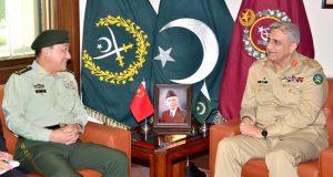 جنرل قمرجاوید باجوہ ۔جنرل وینگ ننگ ملاقات علاقائی سیکیورٹی امور پر تبادلہ خیالات