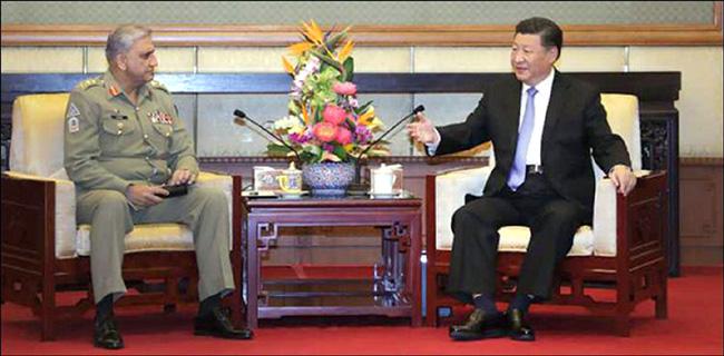 بیجنگ:۔ آرمی چیف جنرل قمر جاوید باجوہ چین کے صدر شی جن پنگ سے ملاقات کر رہے ہیں