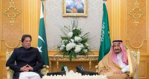 وزیر اعظم کا شاہی محل  پہنچنے پر پرتپاک خیر مقدم کسی کو سعودی عرب پر حملے کی اجازت نہیں دیں گے ، عمران خان