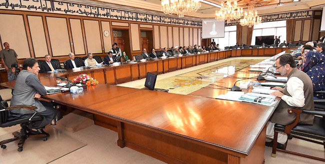 اسلام آباد:۔ وزیر اعظم عمران خان کابینہ اجلاس کی صدارت کر رہے ہیں