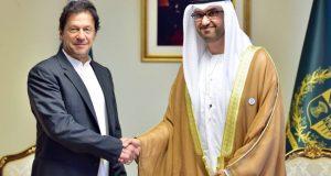 عمران خان ۔سلطان الجابر ملاقات تجارت اور سرماےہ کاری بڑھانے سمےت  مختلف امور پر بات چےت