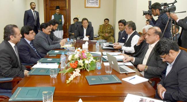 اسلام آباد:۔ وزیر اعظم عمران خان وفاقی ترقیاتی ادارے (سی ڈی اے) بارے اجلاس کی صدارت کررہے ہیں