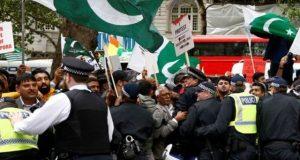 لندن میں کشمیر کے حق اور مودی کے خلاف ہزاروں افراد کا پرجوش مظاہرہ